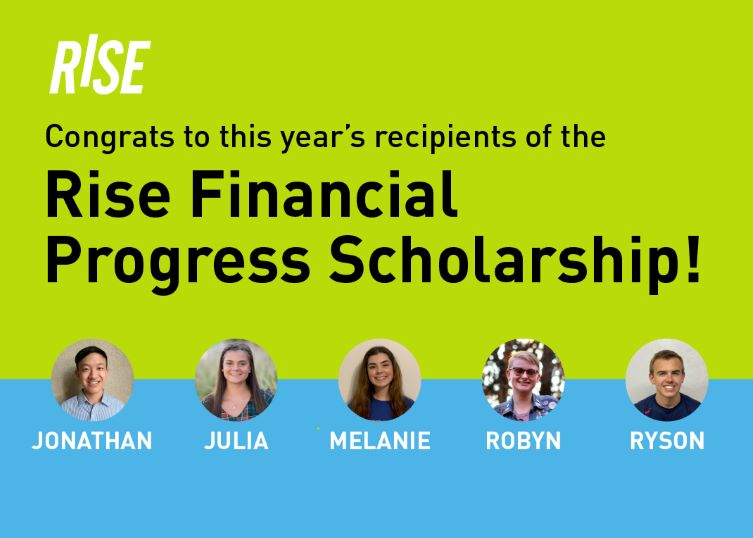 RISE scholarship winners.